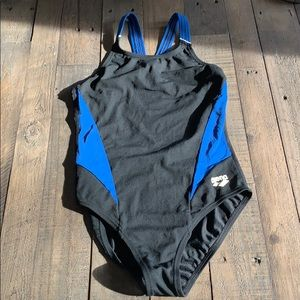Arena black and blue swimsuit